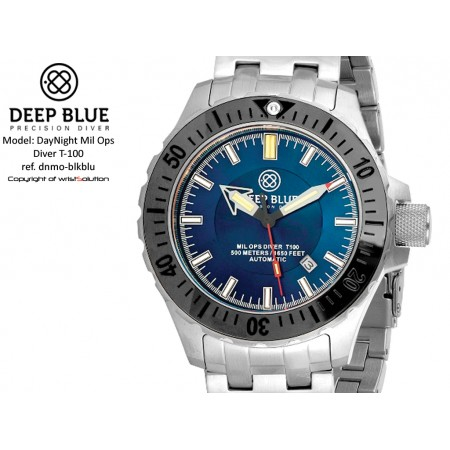Daynight Mil-Ops T-100 (black bezel/blue dial)